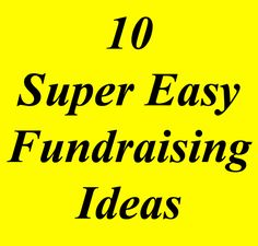 """Are there really """"Easy Fundraising Ideas"""" out there? Absolutely! They will still take work & planning, but these 10 ideas are the easiest you can use. Take a look and start raising funds: www.rewarding-fundraising-ideas.com/easy-fundraising-ideas.html"""