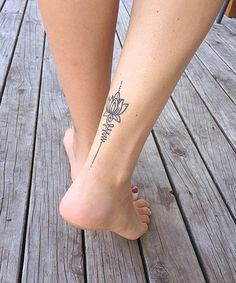 Gorgeous Lotus Flower Ankle Leg Tattoos for Girls