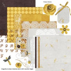 Dragonfly In Amber Collection Mini    Scrap Girls Digital Scrapbooking