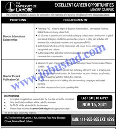 Jobs Description Jobs in University of Lahore 2021 Advertisement Apply Online has been announced through the advertisement and applications from the suitable persons are invited on the prescribed application form. In these Latest UOL Jobs in Lahore the eligible Male/Female candidates from across the country can apply through the procedure defined by the organization and ... Read more The post Jobs in University of Lahore 2021 Advertisement Apply Online appeared first on JobUstad.