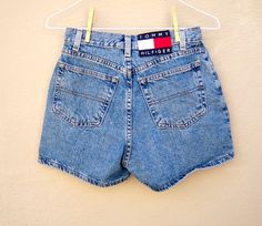 90's high waisted denim shorts // Tommy HILFIGER by dahlilafound, $38.00