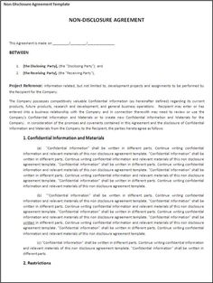 Printable sample vehicle bill of sale template form for Short non disclosure agreement template