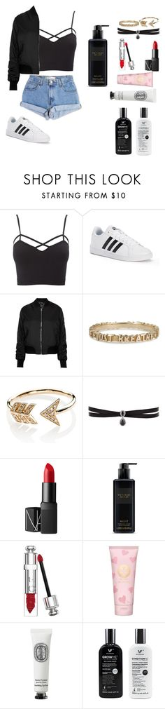 """Untitled #161"" by arwa-ashraf-1 ❤ liked on Polyvore featuring Levi's, Charlotte Russe, adidas, Topshop, EF Collection, Fallon, NARS Cosmetics, Victoria's Secret, Christian Dior and Tory Burch"
