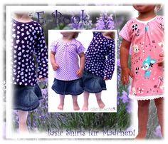 1) Basic-Shirt für Mädchen