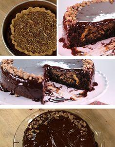 Pumpkin Pecan Chocolate Pie Cake | Community Post: 9 Glorious Pie-Cakes To Make For Thanksgiving
