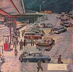 *Commuter Station Snowed In...Ben Kimberly Prins (1902-1980