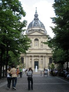 La Sorbonne University in the Latin Quarter:  A symbol of Parisian prestige.  Paris, FRANCE