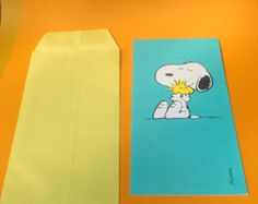 Hallmark Oversized Greeting Card, Snoopy, Peanuts, Woodstock, With Original Envelope, Mint, Vintage, Happy Sweetest Day