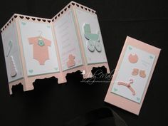 Stampin Up, Something for Baby, Baby's First Framelits, Hearts Border Punch, Decorative Label Punch, Envelope Punch board for the matching envelope