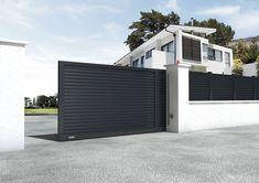 Portón corredero / de aluminio / de panel / para uso residencial - ELIXIUM® - DIRICKX GROUPE