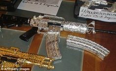 GOLD HOUSE | Pimp my shooter: The amazing bling guns that belong to Mexico's drug ...