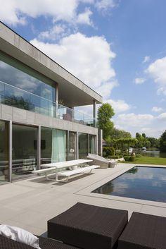 Architectuurfoto's en interieurfoto's van een moderne woning te Drongen ontworpen door A116 architecten. © foto's Liesbet Goetschalckx