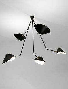 Serge Mouille 5 Falling Arm Ceiling Lamp - $7,600