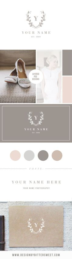 PHOTOGRAPHER LOGO DESIGN - Digital Logo & Watermark    INSTANT DOWNLOAD!!    customize this listing with your own colors and text!