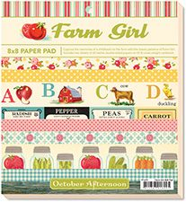 Farm Girl scrapbook paper pad and accessories - seriously awesome crafting stuff in here.