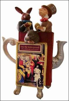 """""""Alice and Lewis Carroll"""" teapot ~ I want one!!"""