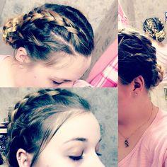 #Braided #Updo #4Braids #Cute #Unique 😻😊 done by myself.