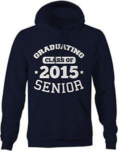 Shirts By Sarah Men's Graduating Class 2015 Senior Graduate Hoodie