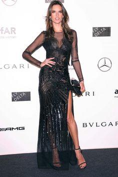 Alessandra Ambrosio at the    amfAR Gala