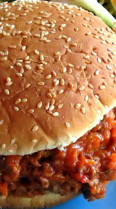 Make these healthified Sloppy Joes from scratch and cut down their simmering time to 10 minutes of completely hands-off pressure cooking - during which Hip Pressure Cooking, Instant Pot Pressure Cooker, Sloppy Joes From Scratch, Instant Pot Asian Recipes, Sandwich Menu, Delicious Sandwiches, Honey Mustard, Cooking Time, Burgers