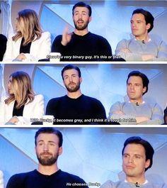 He chooses Bucky 😭😩 Can I cry. Marvel Actors, Marvel Dc Comics, Marvel Avengers, Marvel Jokes, Marvel Funny, Captain America Trilogy, Superhero Memes, James Buchanan, Disney Couture