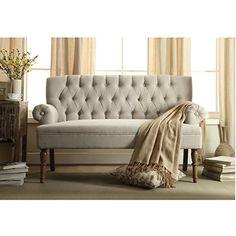 Millbury Home Hermosa Tufted Button Upholstered Loveseat,Beige