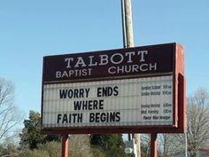 Church sign in Tennessee