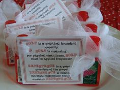 Repentance handout for LDS Young Women. Mini soaps.