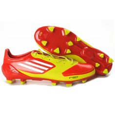 My soccer cleats(neon yellow and orange adidas f50s)