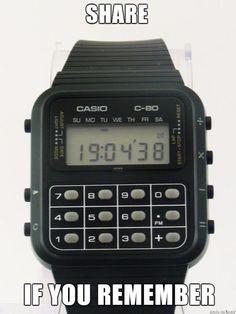 Calculator watches Hodinky s kalkulačkou Best Kids Watches, Cool Watches, Men's Watches, My Childhood Memories, Sweet Memories, 90s Childhood, Nostalgia, Kickin It Old School, Vintage School
