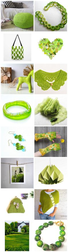 beautiful Etsy treasury~The green miracle of spring