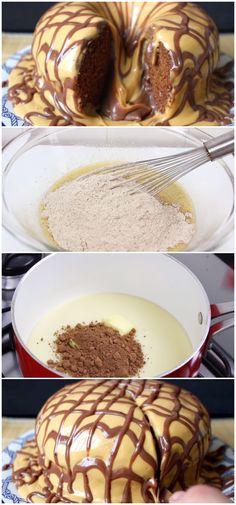 Essa receita de bolo pão de mel vulcão é super fácil de preparar e fica uma delícia. Veja como fazer! #receita #gastronomia #culinaria #comida #delicia #receitafacil #cozinha #bolo #paodemel #bolopaodemel #bolovulcao #bolochocolate #chocolate My Plate, Carne, Mousse, Food And Drink, Pancakes, Pie, Cookies, Breakfast, Sweet