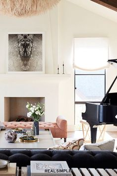 30 Easy and Chic Living Room Decorating Ideas for Any Sized Space | Get the furniture layout just right, says interior designer Amanda Teal of Amanda Teal Design. She relied on the scale and proportion of the furniture to create a harmonious space. #realsimple #livingroomdecor #livingroomideas #details #homedecorinspo