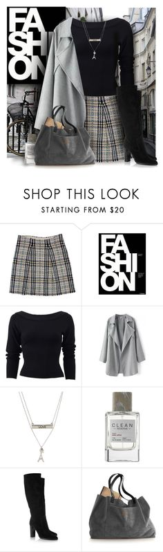 """Burberry Skirt"" by debraelizabeth ❤ liked on Polyvore featuring Burberry, By Charlotte, Donna Karan, Aéropostale, CLEAN and Jimmy Choo"
