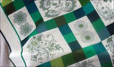 Free project instructions to create this Shimmering Emeralds Quilt designed by Bernina featuring the Emerald Paisley embroidery design collection