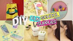 DIY School Supplies! 15 Weird DIY Crafts, DIY PHONE CASE, DIY Room Decor! - YouTube
