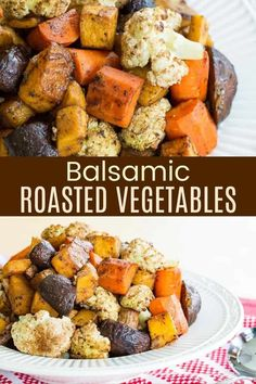 Balsamic Roasted Vegetables - roasting your favorite veggies with balsamic vinegar in the oven until they are tender and caramelized makes them taste amazing. This easy recipe is tasty, healthy, and gluten free. You can even choose low carb vegetables for a keto side dish! Gluten Free Recipes For Dinner, Fall Recipes, Healthy Dinner Recipes, Meatless Recipes, Best Vegetable Recipes, Homemade Vegetable Soups, Low Carb Vegetables, Roasted Vegetables, Veggies