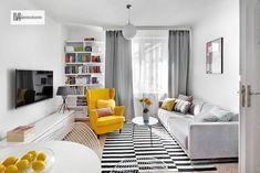 Salon de style de style Scandinave par dziurdziaprojekt