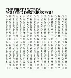 mine were: funny, pretty and lovely.