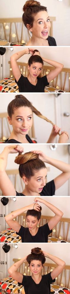 3 EASY Everyday Messy Bun Hairstyle for School, College,Work