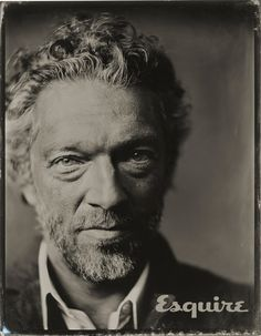 Vincent Cassel -Photographer Victoria Will photographs celebrities at the 2015 Sundance Film Festival using a tintype camera and chemical development. Vincent Cassel, Ewan Mcgregor, Robert Redford, Jason Momoa, Hollywood Actor, Hollywood Stars, Victoria, Vintage Photography, Portrait Photography