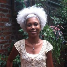 Gorgeous Grey Afro Puff Shared By Michelle Thompson - http://www.blackhairinformation.com/community/hairstyle-gallery/natural-hairstyles/gorgeous-grey-afro-puff-shared-michelle-thompson/ #naturalhairstyles