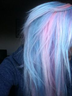 Pastel blue and pink
