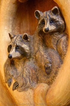 """""""The difference between something good and something great is attention to detail."""" - Charles R. Swindoll    We can create gorgeous woodcarvings from cedar logs that symbolize Mother Nature's beauty. Our craftsmen specialize in special designs and amazing wood sculptures. www.pioneerloghomesofbc.com"""