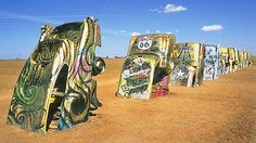 Cadillac Ranch Amarillo, Texas 2007 next time I pass this Im stopping. seen it several times and have never stopped. it is a funny site thought. Funny Emails, Funny Sites, Route 66, Cadillac, Ranch, Places To Go, Texas, United States, America