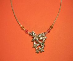 Swarovski Crystals Butterfly Necklace by EVRCreations on Etsy, $25.00
