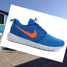 the best attitude d4dda d5f1d Nike Roshe Run Flyknit Light Blue Men Shoes