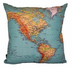 Almofada Mapa Mundi