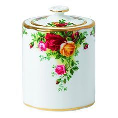 Royal Albert Old Country Roses Tea Party Tea Caddy Shabby, Tea Caddy, Rose Tea, China Patterns, Royal Albert, China Dinnerware, Yellow Roses, Tea Cups, Coffee Cups