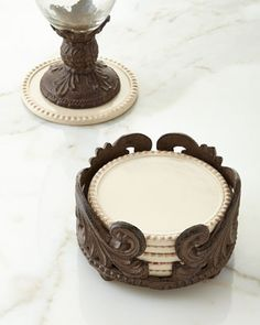 Six Acanthus Coasters by GG Collection at Neiman Marcus.